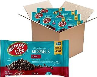 Enjoy Life Baking Chocolate, Soy free, Nut free, Gluten free, Dairy free, Non GMO, Vegan, Paleo, Dark Chocolate Morsels, 9...