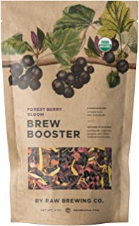 Kombucha.com Forest Berry Bloom BREW BOOSTER - Super Premium ORGANIC Elderberry, Currant, Blueberry Blend w/ Hibiscus for ...