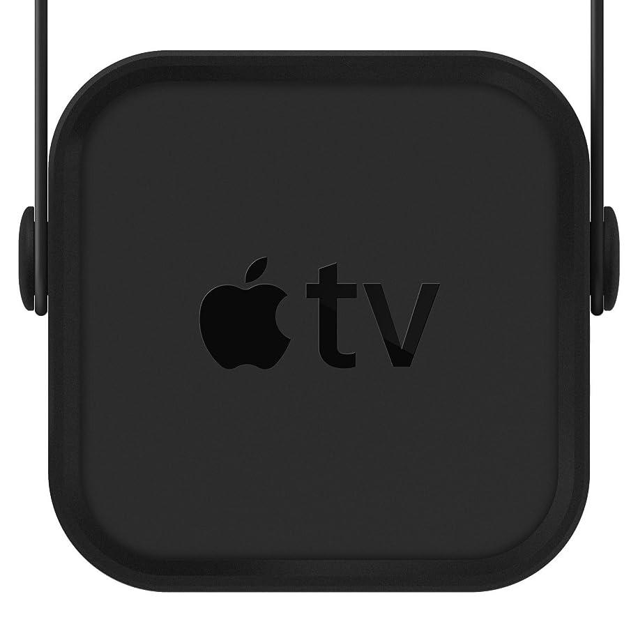 希少性帝国主義自発的【elago】 Apple TV 4K / AppleTV HD 対応 マウント カバー シリコン 製 ホルダー 壁掛け用 ブラケット [ AppleTV 第4世代 / 第5世代アップルTV 対応 ] MULTI MOUNT ブラック