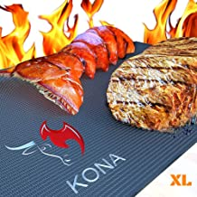 Kona XL Best Grill Mat - BBQ Grill Mat Covers The Entire Grill - Premium Non-Stick 25