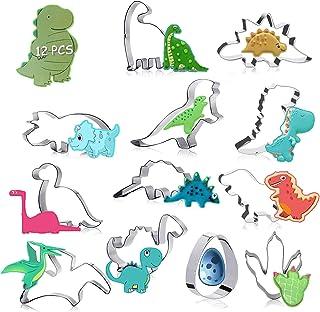 Emporte Pièce Dinosaure Pour Enfants, 12 Pièces Inoxydable Moule à biscuits Emporte Pièce pour Biscuits Patisserie cookie ...