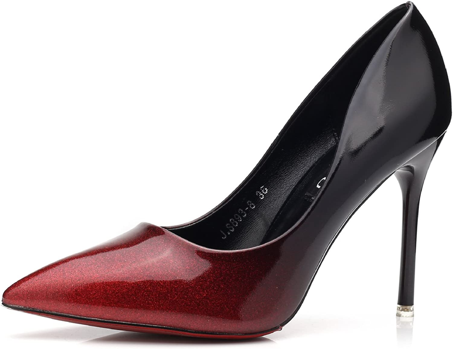 Meiren Stilettos Pointed Women's shoes Wine Red High Heels