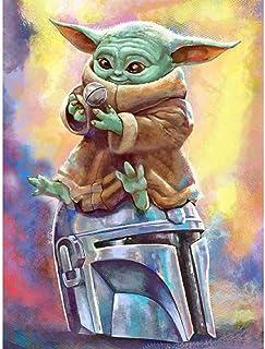 XXYHYQHJD Maître Yoda Star Wars Peinture par Numéro Chiffre pour Adultes et Enfants sans Cadre à l'huile Numérique DIY Bri...
