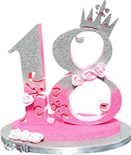 Numero 18 Festa Compleanno Battesimo Laurea - Decorazione per torta compleanno con numero Personalizzato Topper torta - @F...