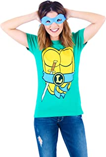 TMNT Teenage Mutant Ninja Turtles Juniors Costume Green T-shirt with Eye Mask