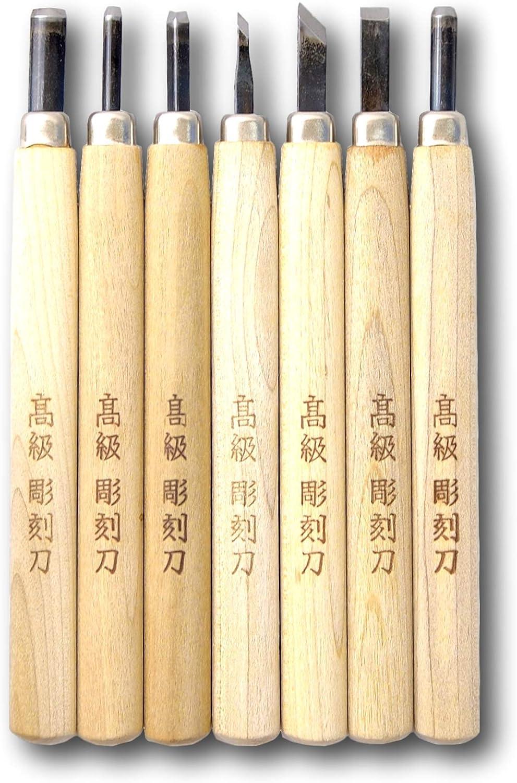 KAKURI Japanese Animer and price revision Woodblock Carving OFFer Tool Pcs Woodcut Printm Set 7