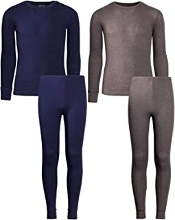 Only Boys 2-Pack Thermal Warm Underwear Top and Pant Set (2 Full Sets)