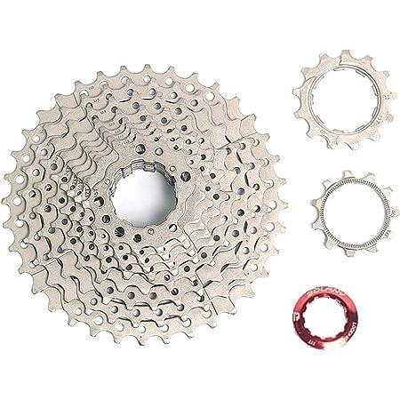 BOLANY 10 Speed 11-36T Cassettes MTB Mountain Road Bike Freewheel Silver//Black