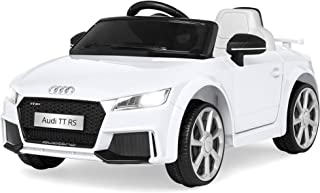 Best Choice Products 6V Kids Licensed Audi TT RS Ride On Car w/ Parent Control, 2 Speeds, Suspension, AUX Input - White
