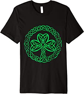 Irish Celtic Knot Shamrock Distressed Clover T Shirt