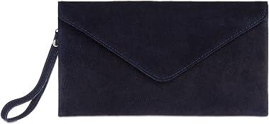 Caspar TL708 Damen Velours Wildleder Clutch Tasche Abendtasche mit Handschlaufe