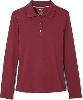 Girls' Long Sleeve Interlock Polo with Picot Collar
