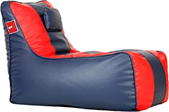 ComfyBean Bags Bean Bag Lounger XXXL Bean Bag Without Fillers Cover (Indigo and Red)
