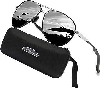 82e6aaba68 Gafas de sol polarizadas para hombre mujere metal Marco grande/Ciclismo  Golf Conducción Pesca Escalada