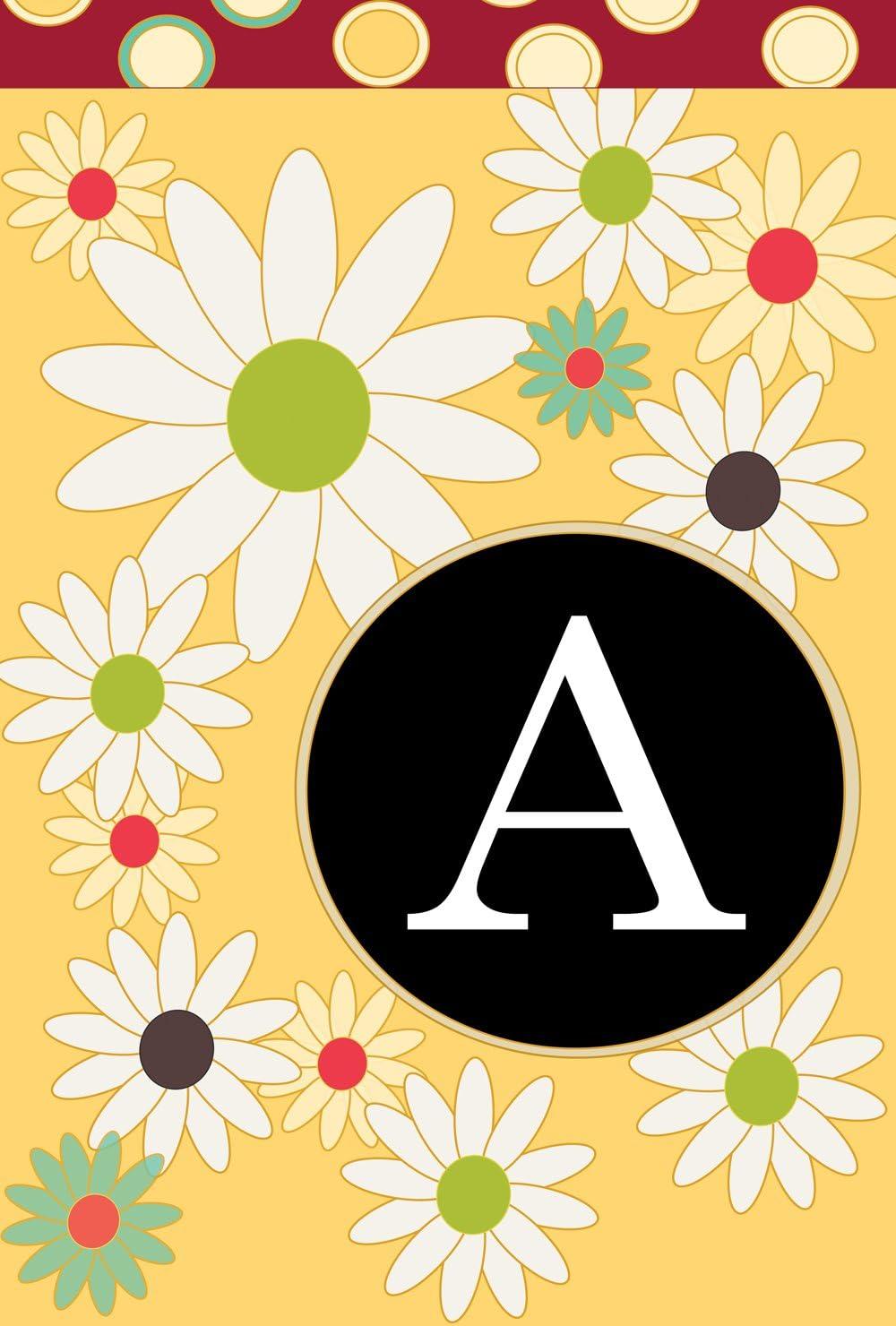 Toland Home Financial sales sale Garden Floral Rapid rise Monogram A 12.5 18 x S Decorative Inch