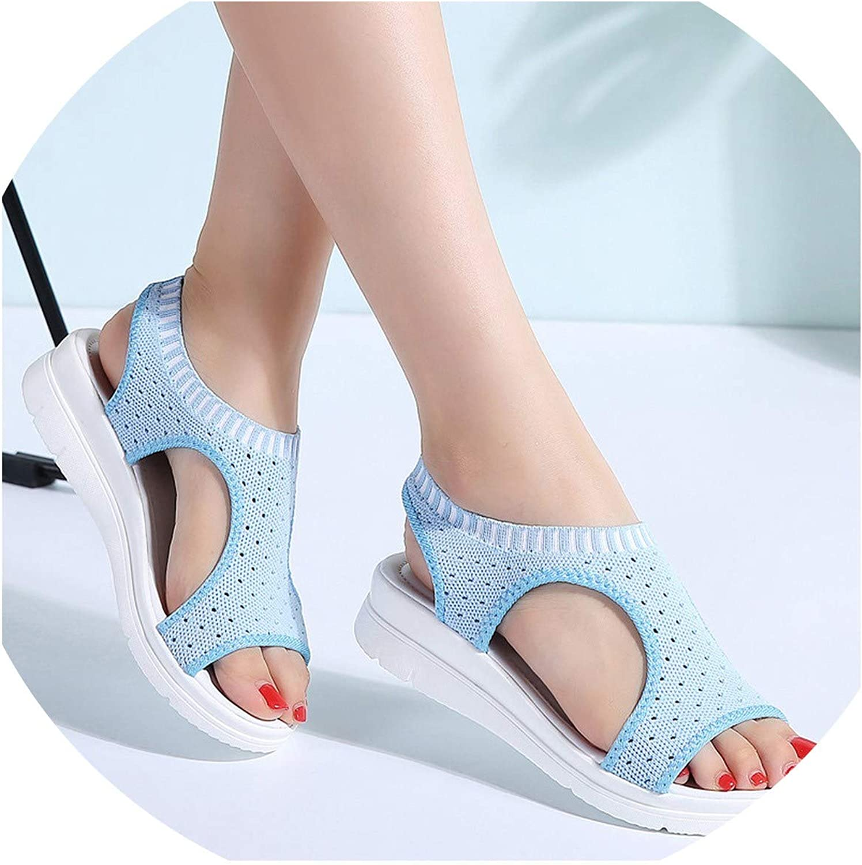Efficiency Women Sandals 2019 New Female shoes Woman Summer Wedge Comfortable Sandals Ladies Slip-on Flat Sandals