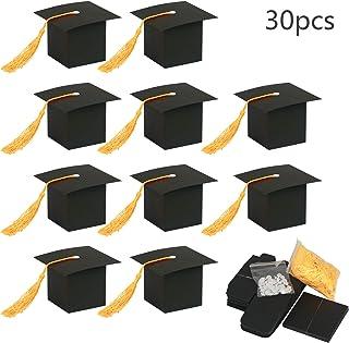 KATOOM 30Pcs Doktorhut Deko Box Herzlichen Glückwunsch Graduation Cap Dekoration Bachelor Hut Geschenkbox 2019 Abi Abschlussfeier Deko