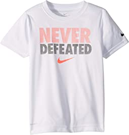 Never Defeated Dri-FIT™ Short Sleeve Tee (Little Kids)