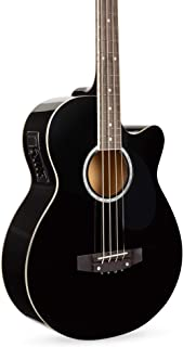 Best Best Choice Products Acoustic Electric Bass Guitar - Full Size, 4 String, Fretted Bass Guitar - Black Review