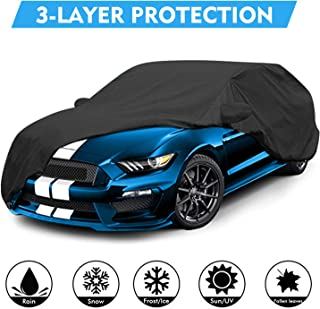 OOFIT Customer Fit 2015-2018 Ford Mustang Car Cover Windproof Dustproof Scratch Proof & Adhesive Repair Patch