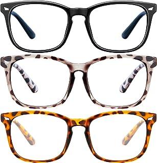 عینک مسدودکننده نور آبی - قاب عینک مربعی عینک بازی 2Pack ، عینک مسدودکننده نور آبی برای آقایان ، عینک مخصوص بازی با خواندن خستگی چشم و ضد چشم بدون نسخه