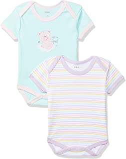 Max Baby Girls' Romper Suit (Pack of 2)
