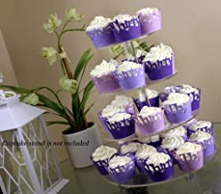 All About Details Purple Ombre Thirty Cupcake Wrappers Kit, 32pcs