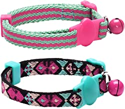 Blueberry Pet 7 Designs Breakaway Safety Cat Collars, Personalized Cat Collars, Cat Harness & Leash Sets