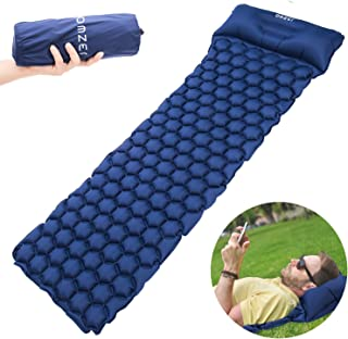 featured product OMZER Ultralight Sleeping Pad,  Compact for Backpacking Hiking Camping Hammocks with Attached Pillow, Inflatable Sleeping Air Mattress Pad Durable and Lightweight Fit Adults Kids