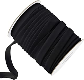 Made in USA 1//2 Double Fold Bias Tape Black