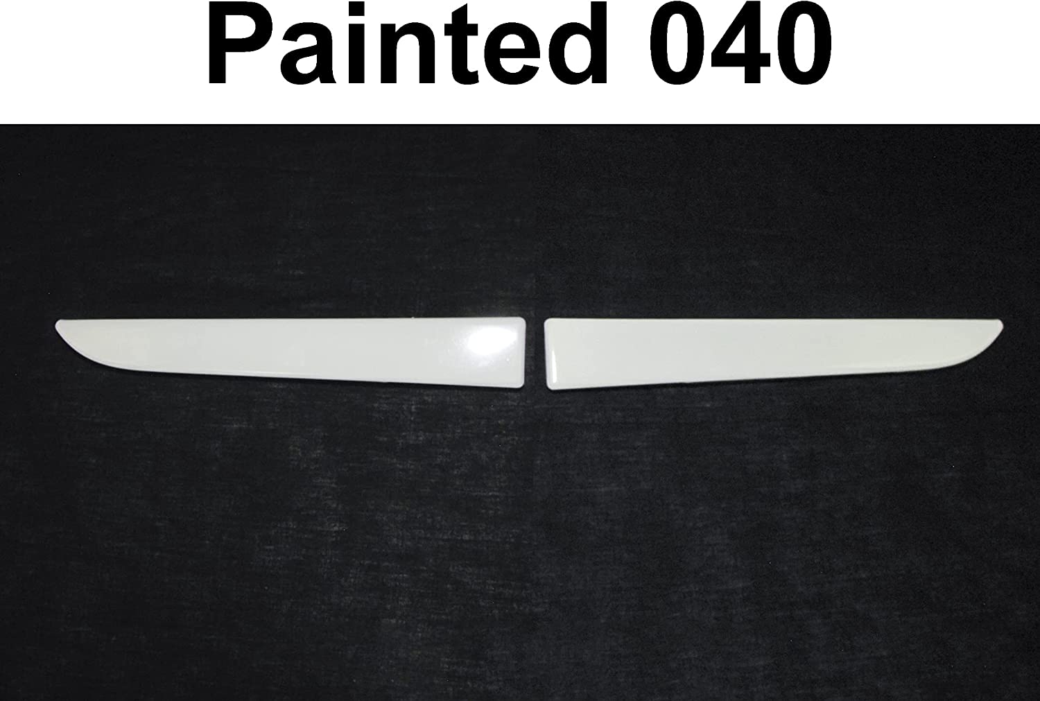 Bundle Painted 040 White Grille Omaha Mall Lower Lh Rh Fits Panel Filler Max 45% OFF