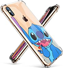 """Logee Sweet Stitch TPU Cute Cartoon Clear Case for iPhone X/iPhone Xs 5.8"""",Fun Kawaii Animal Soft Protective Shockproof Cover,Ultra-Thin Funny Character Cases for Kids Teens Girls Boys (iPhoneXs)"""