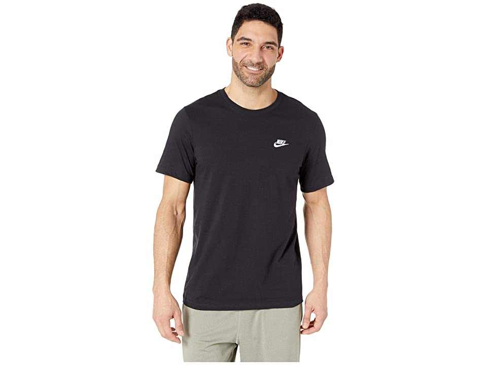 Nike NSW Club Tee (Black/White) Men