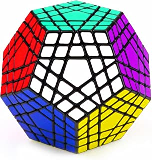 CuberSpeed Gigaminx Black Magic Cube Gigaminx Speed Cube 5x5 Cube