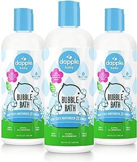 DAPPLE Baby Bubble Bath, Fragrance Free Bubble Bath, Plant Based, Hypoallergenic, 16.9 Fluid Ounces (Pack of 3)