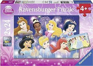 Ravensburger - 08872 - Puzzle Enfant Classique - Princesses Disney - Princesses Réunion DP - 2 x 24 Pièces