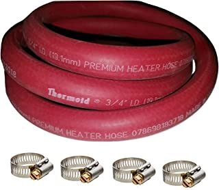 HBD Thermoid Premium Heater Hose 6 Feet Length x 3/4 Inch Inside Diameter and 4 Size 12 Breeze Clamps 5 Piece Bundle