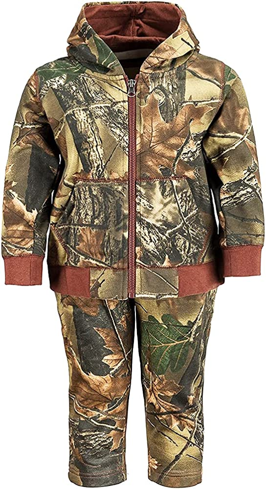 TrailCrest Infant - Toddler Cotton Full Zip Hoodie Sweatshirt Jacket & Pants Set Tracksuit