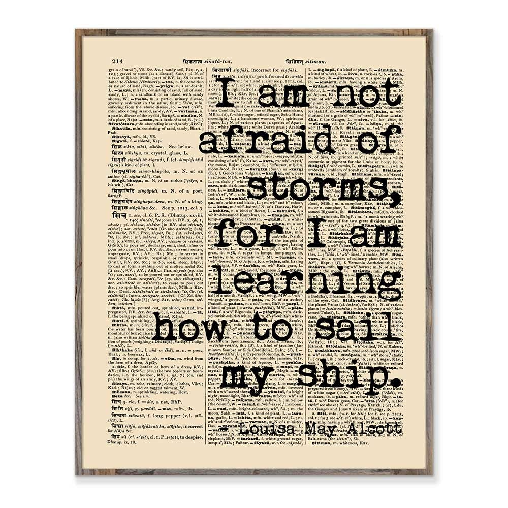 Little Women Not Afraid Quote Print Max 48% OFF Am Free shipping / New I Storms of I