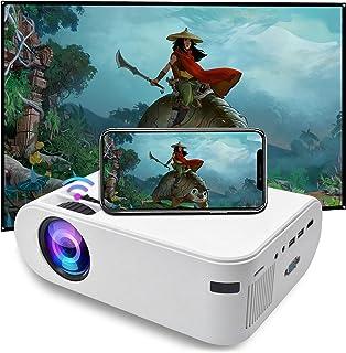 SOTEFE Mini LED-projektor bärbar 6000 lumens-WiFi videoprojektor 1080P Full HD för iPhone Samsung, Huawei Smartphone Hempr...