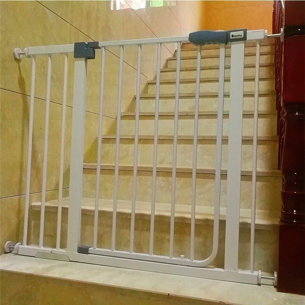 JNS Puerta de Seguridad del bebé Cerca de barandas bebé Escaleras Puerta de Hierro Aislamiento Niño Barrera de Seguridad for Mascotas Valla Barandilla Cocina Balcón Perro Valla para Mascotas: Amazon.es: Hogar