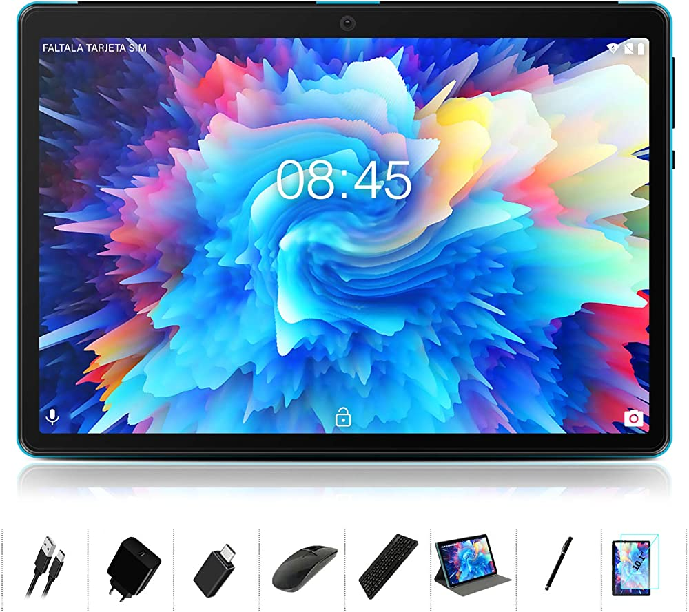 Meberry,tablet 10 pollici android 10 os,octa-core 1.6 ghz multi-accessori tablet pc 4gb+64gb-google gms M7