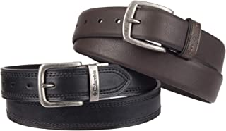 Columbia Men's 2 Belts in A Box Gift Set