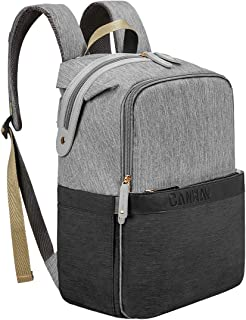 Diaper Bag Backpack, CANWAY Large Unisex Diaper Baby Bag Travel Nappy Maternity Bag Multi-Function Waterproof and Durable for Mom & Dad (Black)