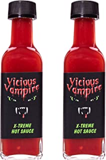 Vicious Vampire X-Treme Hot Sauce - 2er Set -Scharfe Sauce für Scharfesser - Chili-Sauce