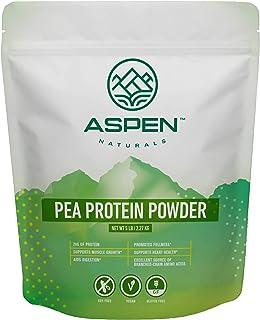 Aspen Naturals Pea Protein Powder - 5 lb Bulk Bag. Unflavored, Plant Based, Gluten Free, Non-GMO, Vegan Protein Powder. Su...