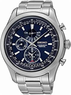 SPC125P1 Neo Classic Alarm Perpetual Blue Dial Stainless Steel Mens Watch