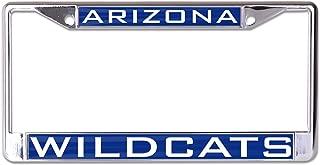NCAA Arizona Wildcats Inlaid Metal License Plate Frame, 2-Tag Corners