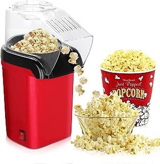 Yuragim Machine à Popcorn, 1200W Retro Popcorn Maker avec Air Chaud, Machine à Pop Corn Rapide Facile Avec Tasse à Mesure...