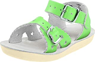 Salt Water Sandals Girls 2016 Sun-san - Sweetheart Green Size: 12 M US Little Kid